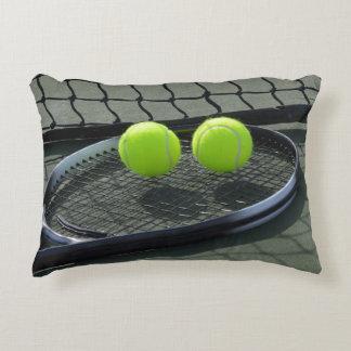 Almofada Decorativa Bolas da raquete & de tênis do campo de ténis