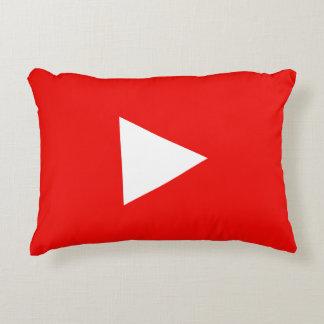 Almofada Decorativa Botão vermelho do jogo de YouTube
