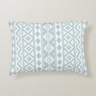 Almofada Decorativa Branco asteca da essência (v) Ptn IIIb & azul do