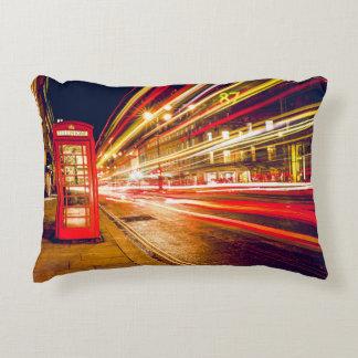 Almofada Decorativa Cabine de telefone da noite de Londres!