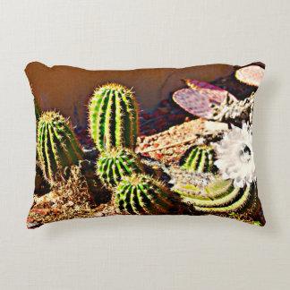 Almofada Decorativa Cacto verde com o travesseiro decorativo branco da