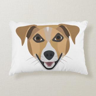 Almofada Decorativa Cão Terrier de sorriso da ilustração
