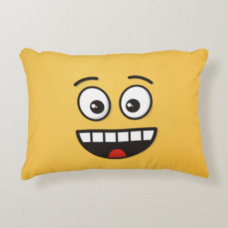 Almofada Decorativa Cara de sorriso com boca aberta