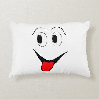 Almofada Decorativa Cara engraçada - preto e vermelho