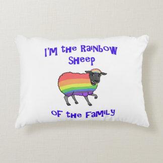Almofada Decorativa Carneiros do arco-íris da família