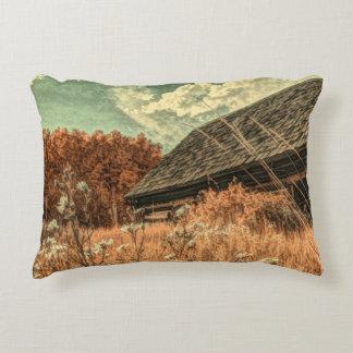 Almofada Decorativa celeiro velho da fazenda do wildflower do campo do