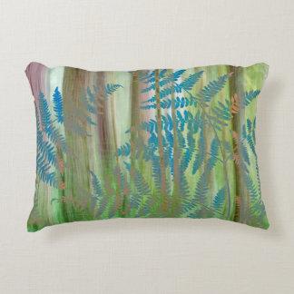 Almofada Decorativa Colagem das samambaias da samambaia e da floresta