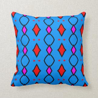 Almofada Almofada decorativa coloré, azul brilhando à