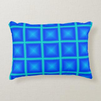 Almofada Decorativa Costume geométrico poli da estrela de azul-céu