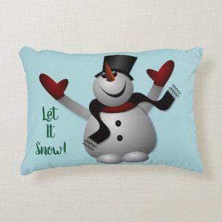 Almofada Decorativa Deixais lhe para nevar boneco de neve