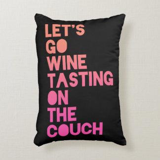 Almofada Decorativa Deixe-nos ir degustação de vinhos no sofá