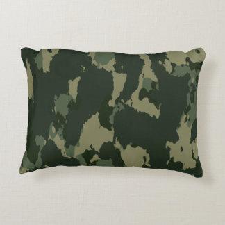 Almofada Decorativa Design bege cinzento verde escuro de Camo da