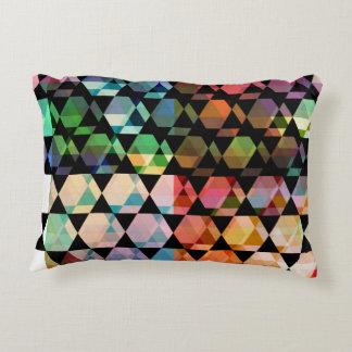 Almofada Decorativa Design gráfico do hexágono abstrato