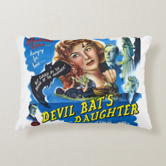 Almofada Decorativa Devil Bat's Daughter, vintage horror movie poster