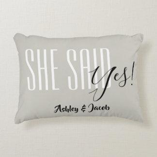 Almofada Decorativa Disse o travesseiro sim personalizado