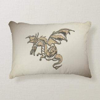 Almofada Decorativa Dragão dourado