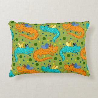 Almofada Decorativa Dragões coloridos