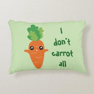 Almofada Decorativa Engraçado eu não faço cenoura todos os desenhos