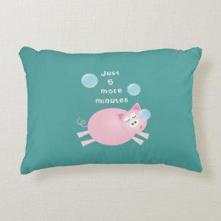 Almofada Decorativa Engraçado porco sonolento grande de um sonho de