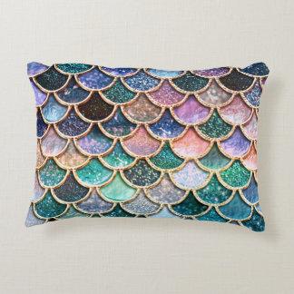 Almofada Decorativa Escalas multicoloridos luxuosas da sereia do