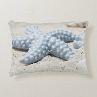 Almofada Decorativa Escudo e areia bonitos de estrela do mar da praia