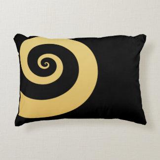 Almofada Decorativa espiral geométrica do ouro moderno elegante do