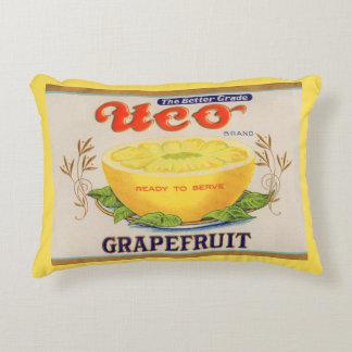 Almofada Decorativa etiqueta da toranja da marca de Uco dos anos 30