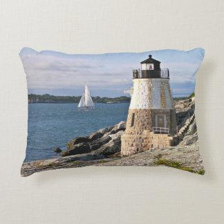 Almofada Decorativa Farol do monte do castelo, Rhode - ilha