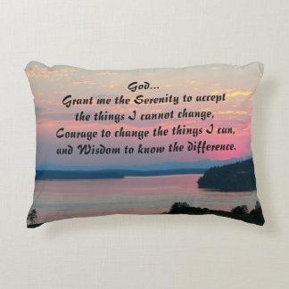 Almofada Decorativa Foto do Seascape do rosa da oração da serenidade