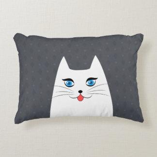 Almofada Decorativa Gato bonito com a língua que cola para fora