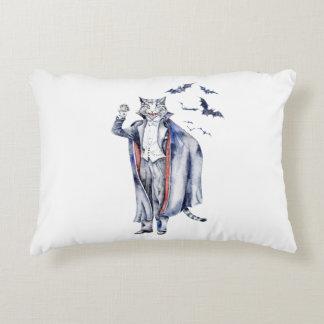 Almofada Decorativa Gato do vampiro de Catula da contagem