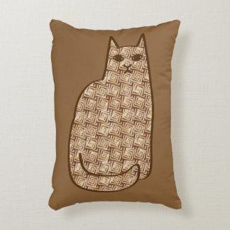 Almofada Decorativa Gato moderno do meio século, bege e luz - marrom