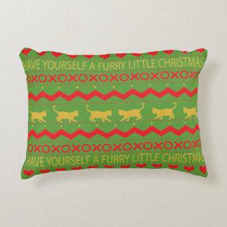 """Almofada Decorativa Gatos do Natal peludo"""" do travesseiro do Natal """""""