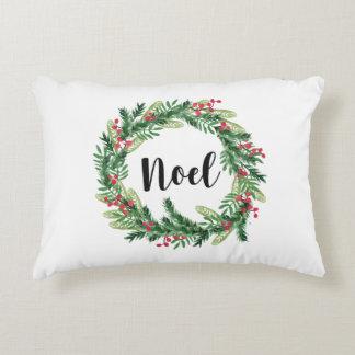 Almofada Decorativa Grinalda da aguarela do Natal