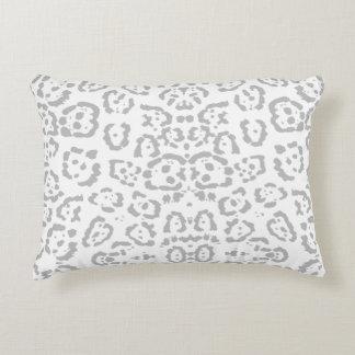 Almofada Decorativa Impressão animal cinzento do gato de leopardo da