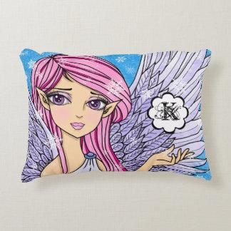 Almofada Decorativa Impressão da arte de Personalizabel do anjo da