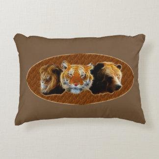 Almofada Decorativa Leão e tigre e urso