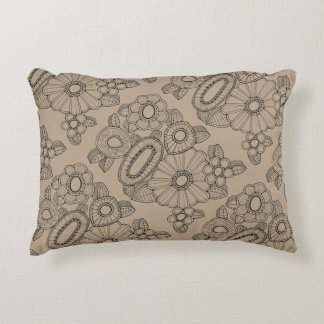 Almofada Decorativa Linha floral design do pulverizador cinco da arte