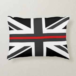 Almofada Decorativa Linha vermelha fina bandeira do Reino Unido