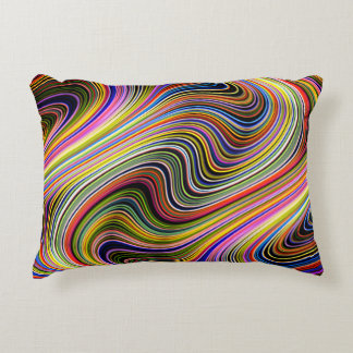 Almofada Decorativa Linhas de néon Curvy multicoloridos à moda