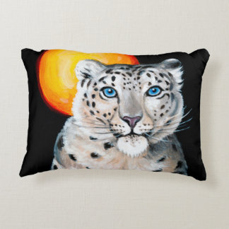 Almofada Decorativa Lua do leopardo de neve