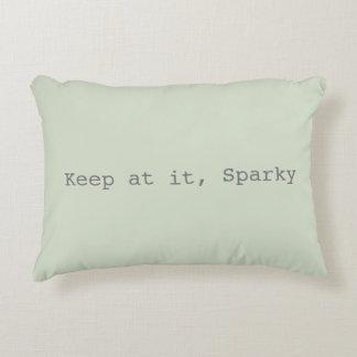 Almofada Decorativa Mantenha nele, travesseiro decorativo Sparky