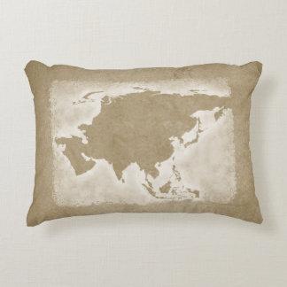 Almofada Decorativa Mapa do asiático do vintage