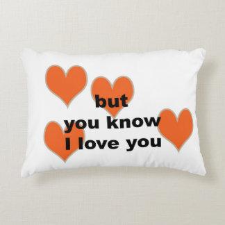 Almofada Decorativa mas você sabe eu te amo (o travesseiro lombar)