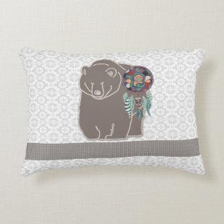 Almofada Decorativa Nativo americano frente e verso urso inspirado