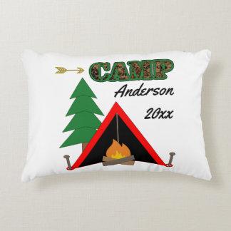 Almofada Decorativa Nome de acampamento desportivo da barraca da