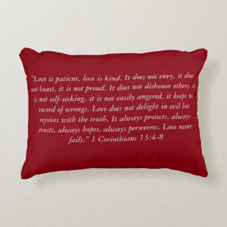 """Almofada Decorativa O """"amor nunca falha travesseiro da escritura do"""