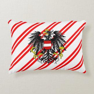 Almofada Decorativa O austríaco listra a bandeira
