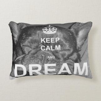 Almofada Decorativa O buldogue francês mantem o travesseiro ideal