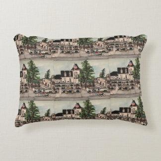 """Almofada Decorativa """"O hotel de parque Pôr-travesseiro na baía"""""""